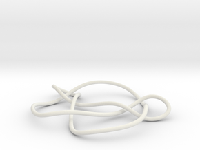 knot 7-7 100mm in White Natural Versatile Plastic