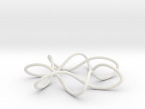 knot 7-1 100mm in White Natural Versatile Plastic