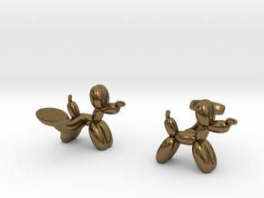 Balloon Dog Cufflinks in Natural Bronze