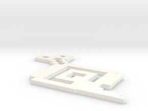 Piscle 3D Figure in White Processed Versatile Plastic