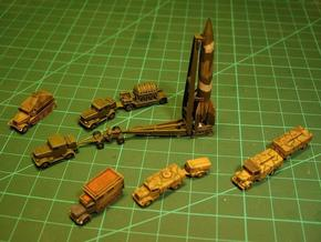 V2 Rocket Batterie Z-Scale 1/220  in Smooth Fine Detail Plastic