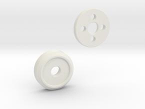 Eye Plug in White Natural Versatile Plastic
