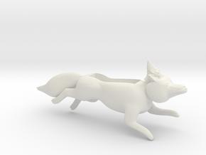 Fox With Gnome Iphone Speaker plastic in White Natural Versatile Plastic
