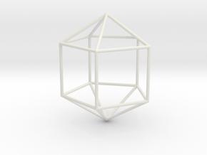 ElongatedPentagonalDipyramid 70mm in White Natural Versatile Plastic