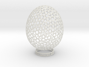 Easter 2012 Egg No.4 in White Natural Versatile Plastic