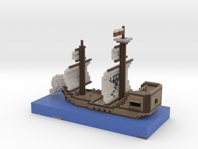 Pirate Ship in Full Color Sandstone