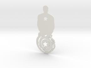 Captain America artwork in White Natural Versatile Plastic