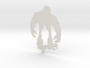 Hulk artwork in White Natural Versatile Plastic