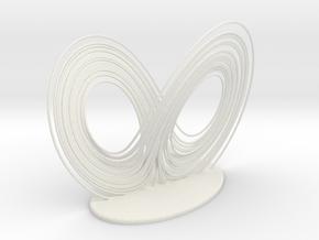 Lorenz Attractor in White Natural Versatile Plastic