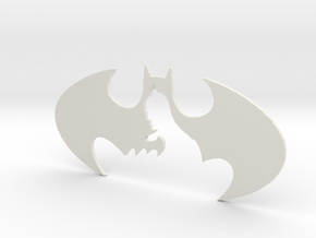batman decorative plate in White Natural Versatile Plastic