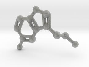 Serotonin Molecule Keychain Necklace in Metallic Plastic