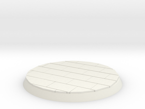 Brick Surface 30mm Base in White Natural Versatile Plastic