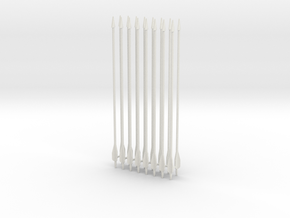"1:6 SCALE ARROWS 5.25"" X16PCS revised  in White Natural Versatile Plastic"