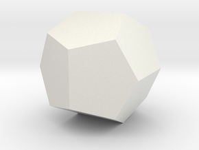 Pentagon dodecahedron in White Strong & Flexible