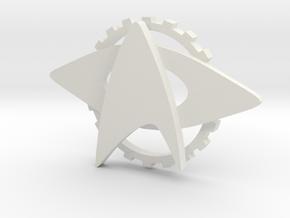 Into Darkness Custom Cap Badge in White Natural Versatile Plastic