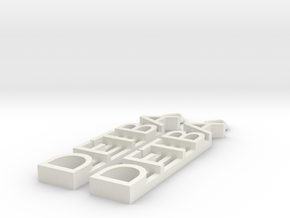 DFTBA Earrings in White Natural Versatile Plastic