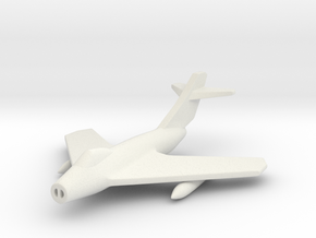 1/285 (6mm) Mig-17F in White Natural Versatile Plastic