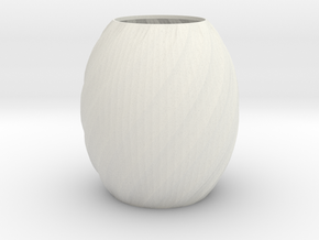 Vase Seven in White Natural Versatile Plastic