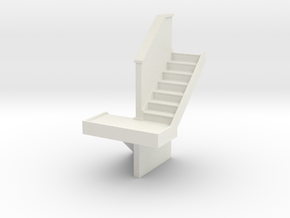 Domestic Stairs 3 - OO scale in White Strong & Flexible