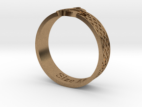 Ring - Ring of Mara (Size 13) in Natural Brass