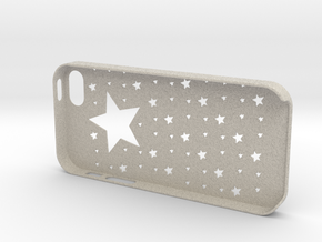 Iphone5,5S Star case,cover in Natural Sandstone