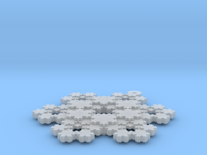 Koch Snowflake - 3 in Smooth Fine Detail Plastic