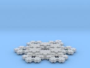 Koch Snowflake - 3 in Smooth Fine Detail Plastic