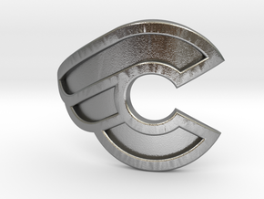 Cinelli bicycle front logo in Natural Silver