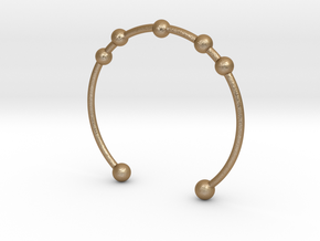 Bracelet Seven in Matte Gold Steel
