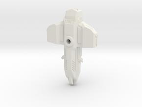 Demolisher 70mm in White Natural Versatile Plastic