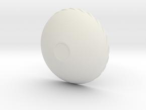Twist Bowl in White Natural Versatile Plastic