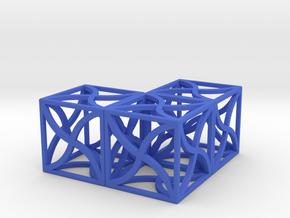 Twirl cubed puzzle part #5 in Blue Processed Versatile Plastic