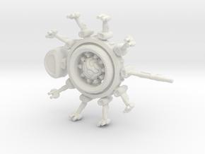 Alien Carrier Globe in White Natural Versatile Plastic