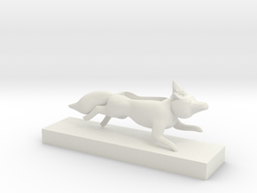 fox and gnome speaker with stand in White Natural Versatile Plastic