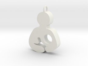 Breastfeeding Pendant in White Natural Versatile Plastic