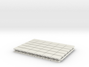 15mm Pallets x72 in White Natural Versatile Plastic