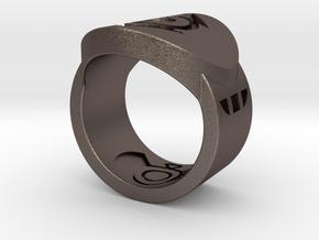 Indigo Tribe FF Ring Sz 6 in Black Natural Versatile Plastic