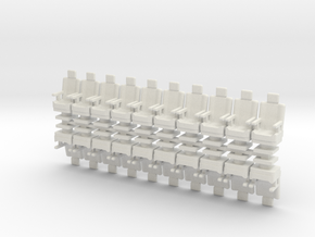 15mm Standard Seats With Arms x20 in White Natural Versatile Plastic