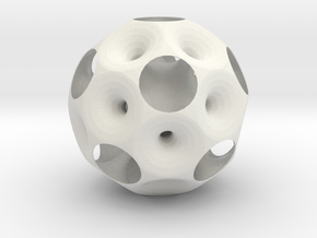 dodecahedron inside out 0.2 in White Natural Versatile Plastic