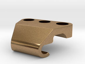 Cable Holder 1 in Natural Brass