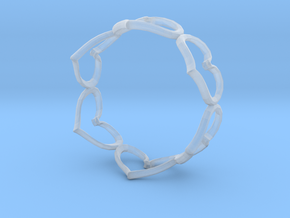 Hearts Bracelet 4inch in Smooth Fine Detail Plastic