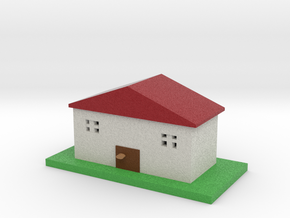 house model  smaller in Full Color Sandstone