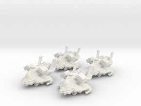 4x Colonial Heavy Raptor 1/270 in White Strong & Flexible