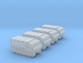 3mm M548 - Covered Wagon, No Ring-Mount (4 pcs) in Smooth Fine Detail Plastic