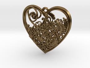 Elven Heart in Natural Bronze