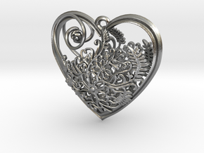 Elven Heart in Natural Silver