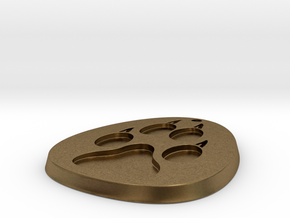 Paw Medallion Solid in Natural Bronze