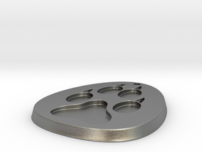Paw Medallion Solid in Natural Silver