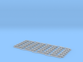 Check Rail Chairs 1.50mm Four Pack in Smooth Fine Detail Plastic