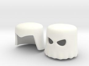 Cobra Commander Headwear For Minimates in White Processed Versatile Plastic